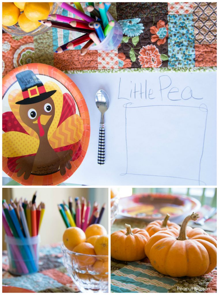 Simple Thanksgiving ideas for kids: how to set a kids' table they'll LOVE sitting at!
