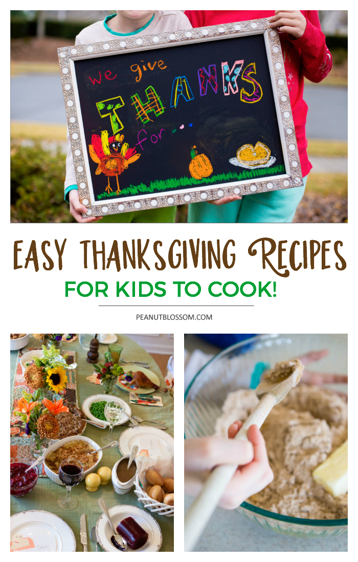 Easy Thanksgiving recipes for kids to cook for their families.