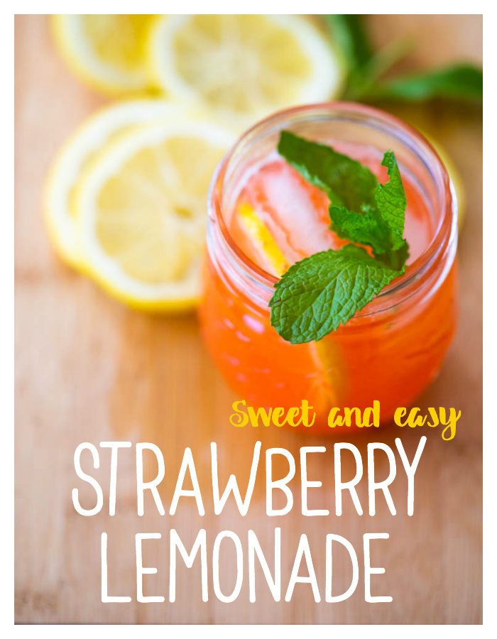 Sweet and easy strawberry lemonade recipe for kids
