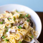 Ham and peas pasta alfredo is the coziest comfort food ever