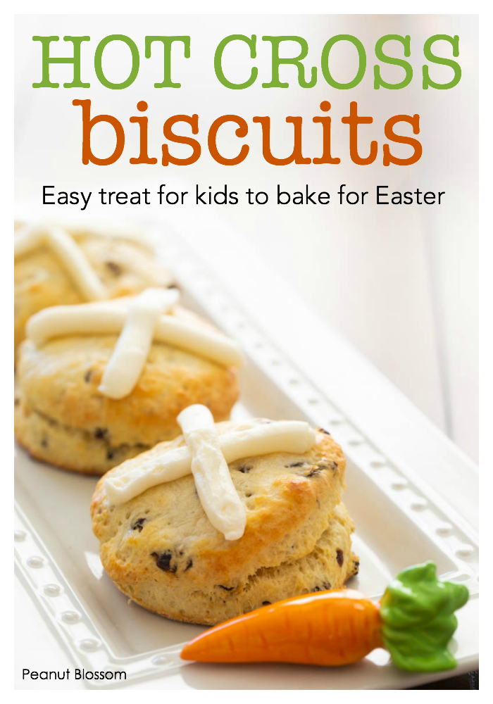 Hot cross biscuits, an easy treat for kids to bake for Easter