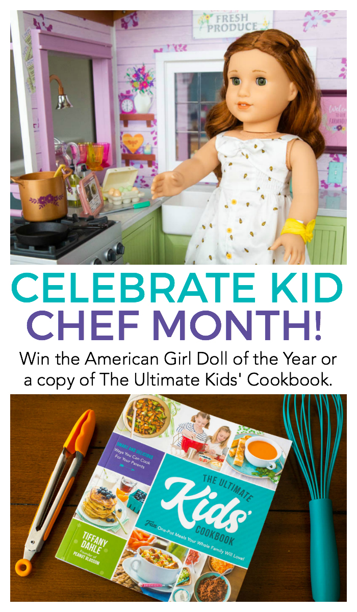 Win the American Girl Doll of the Year, Blaire Wilson or 1 of 4 copies of The Ultimate Kids' Cookbook by Tiffany Dahle. Enter to win all April long. Winners announced May 1.