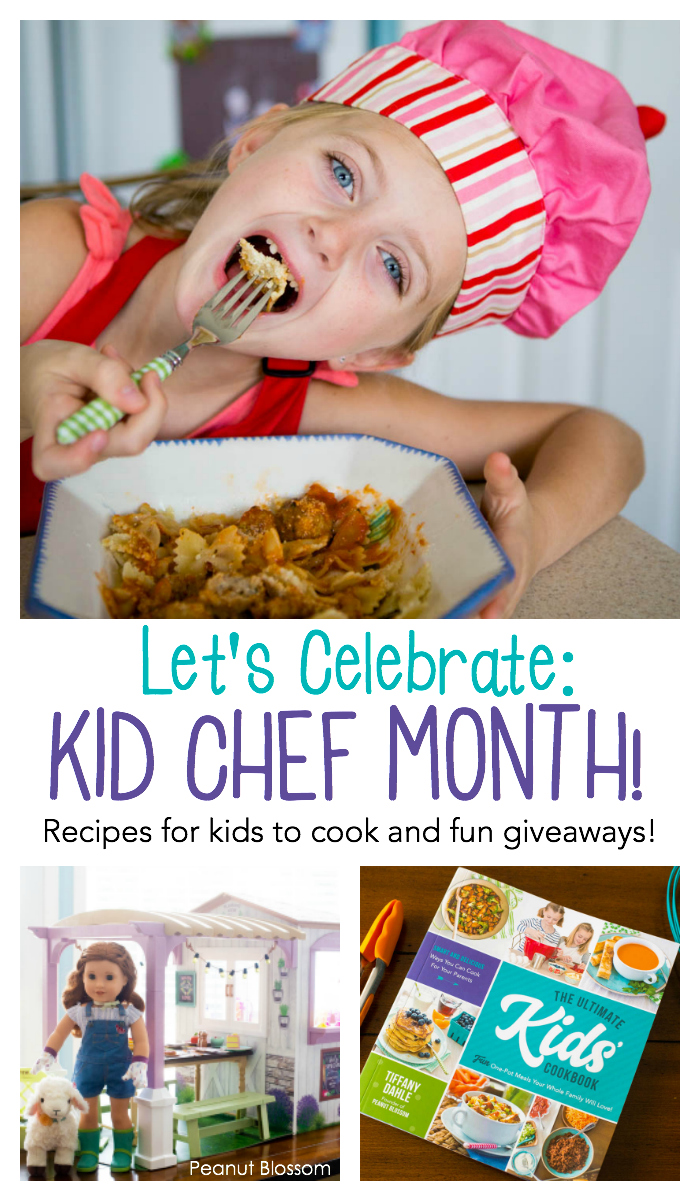 Celebrate Kid Chef Month this April over on PeanutBlossom.com
