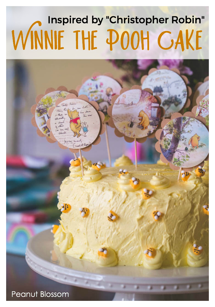 Winnie the Pooh cake inspired by the movie Christopher Robin