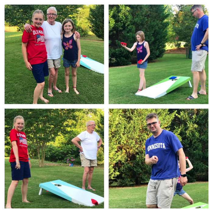 5 fun backyard games to play with your kids! Game #1: Host a cornhole tournament!