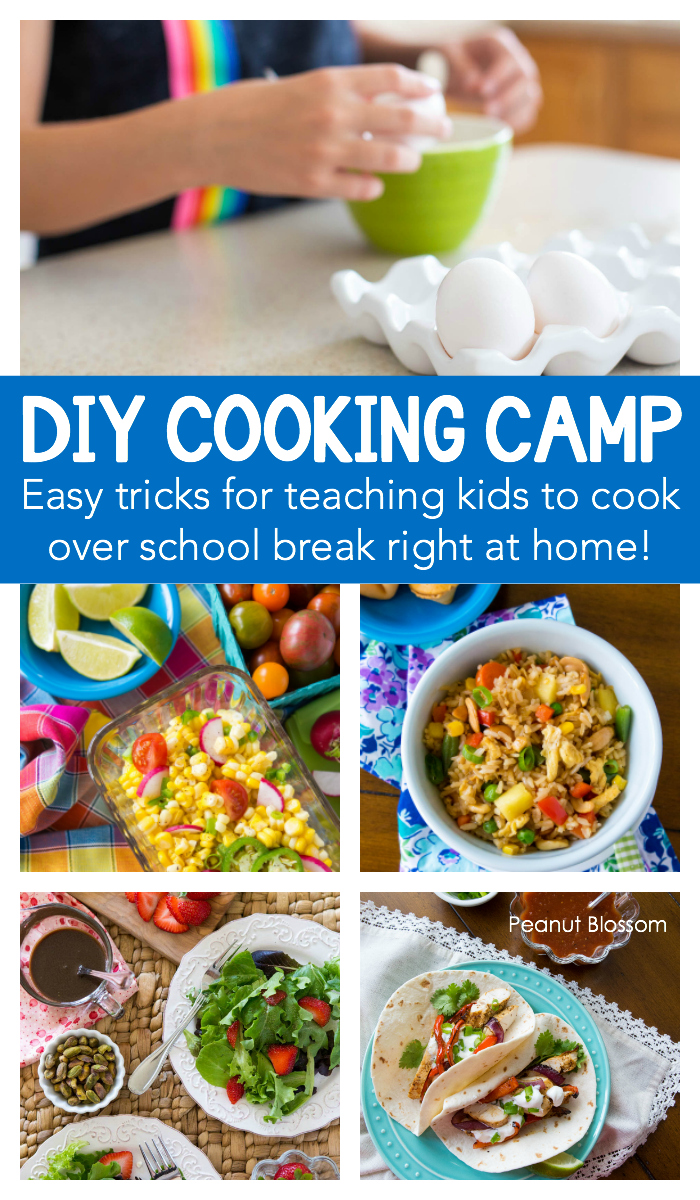 DIY Cooking Camp: Easy tricks for hosting your own kids cooking classes right at home.