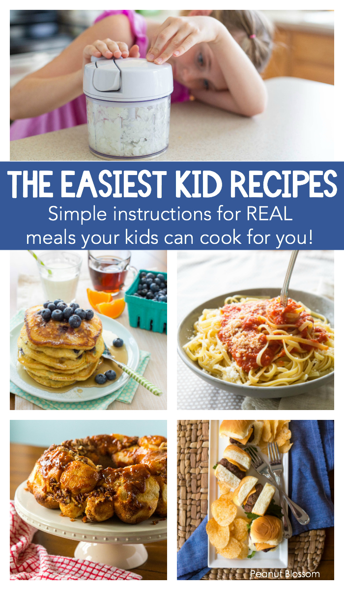 The easiest kids recipes to use in DIY kids cooking classes at home.