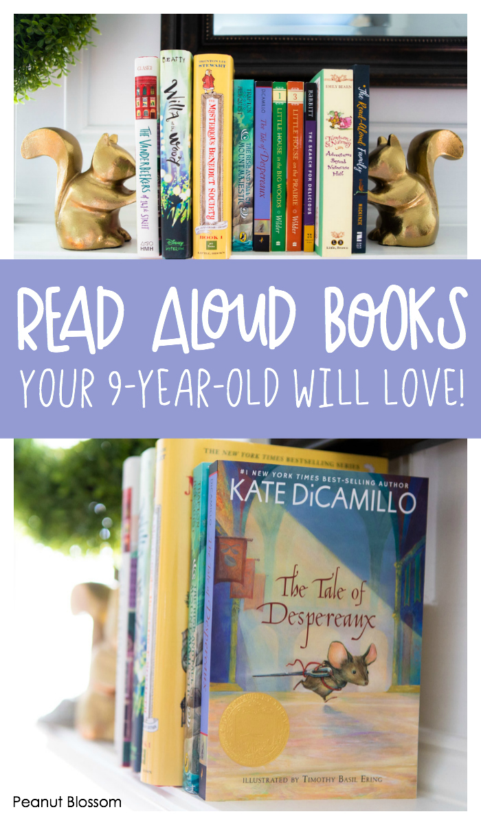 Read aloud books your 9-year-old will LOVE (and so will you!) These phenomenal chapter books are perfect for reading together as a family with mixed ages of kids.