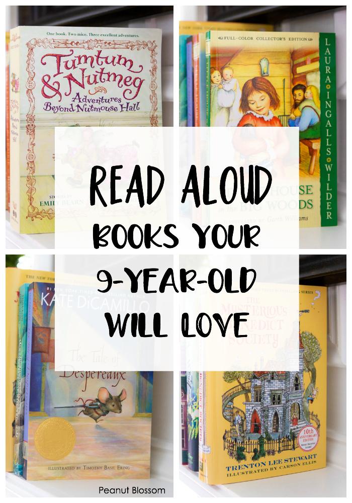Read Aloud Books your 9-year-old will love (and so will you!) These fun chapter books for families to read together will make wonderful memories for parents and their kids.