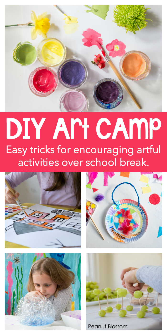 DIY Art Camp: host your very own art classes for kids right at home this summer vacation and watch your children's creativity bloom!