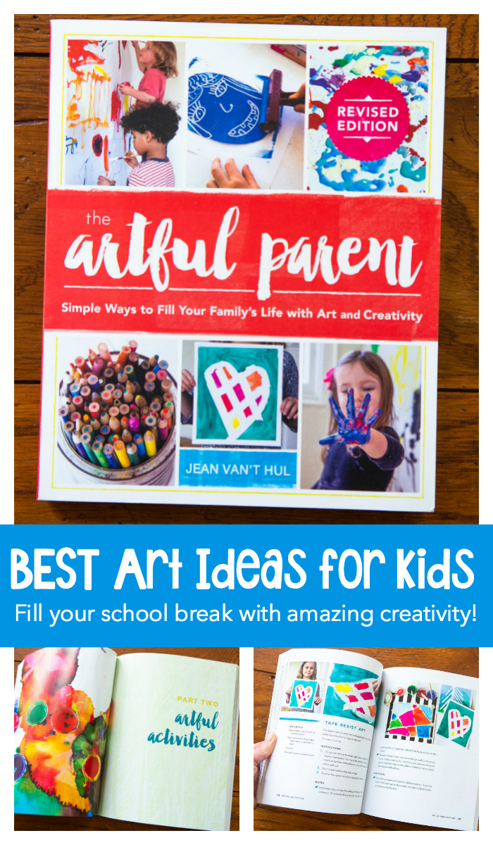 The Artful Parent by Jean Van't Hul is the BEST art book for kids. Host your own DIY art classes for kids using this amazing resource right at home with your children over school break.