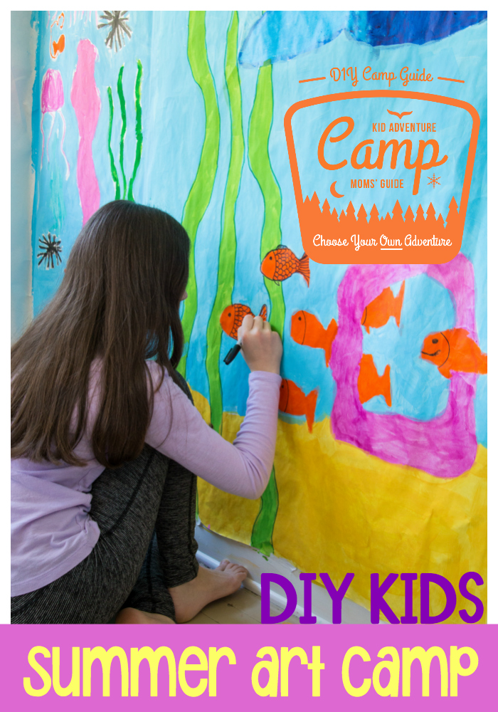 DIY Kids Summer Art Camp: learn how to host your very own art classes for kids this school break and fill your children's world with creative activities.