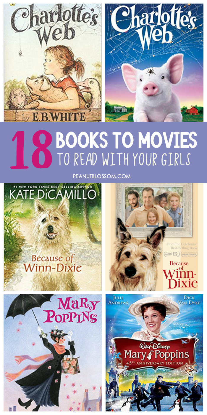 18 books to movies to read with your girls before they turn 18.