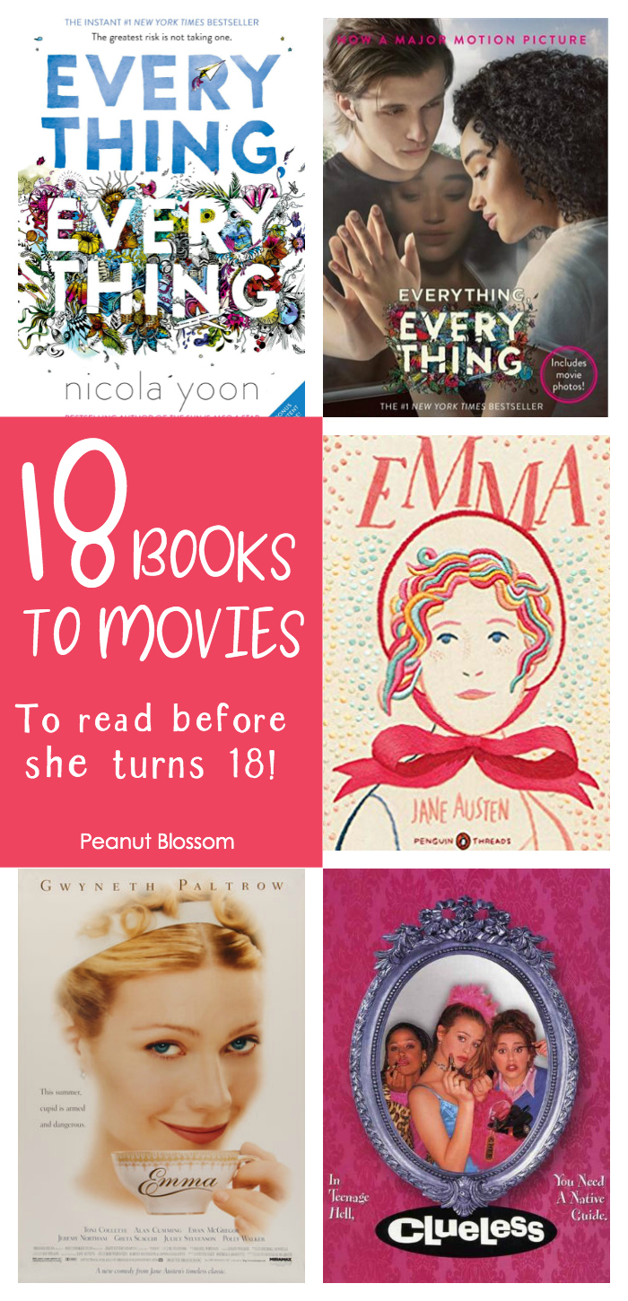 18 books to movies to read with your daughter before she turns 18.