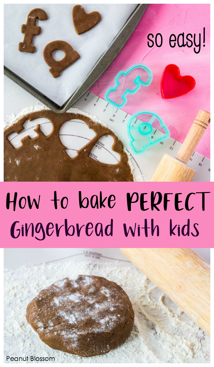 How to bake perfect gingerbread cookies with kids, it is so easy!