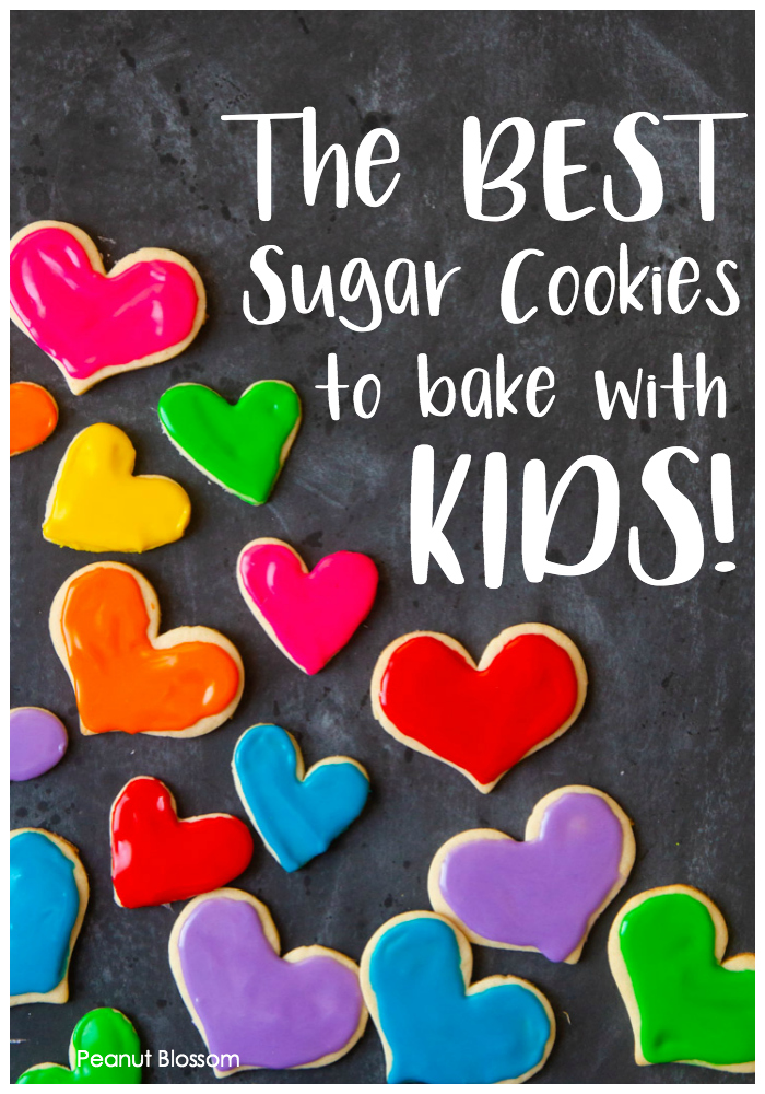 These sugar cookies are great for baking with kids. The dough doesn't spread when they bake and keeps their shape. Easy to make in a big batch and freeze.