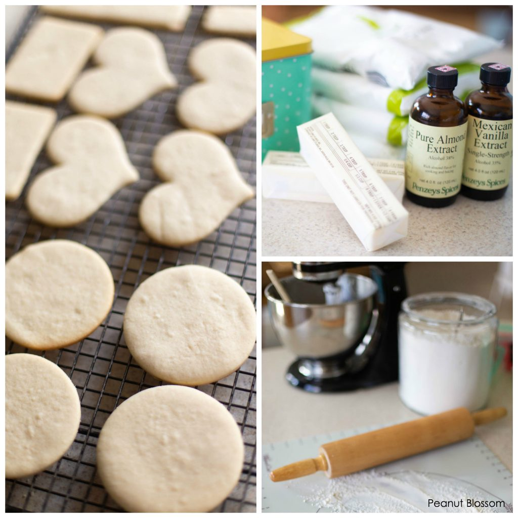 Easy sugar cookies recipe that doesn't spread. Perfect for baking with kids.