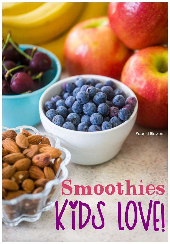 3 smoothie recipes for kids that are filled with protein and will actually help them stay full all morning long.