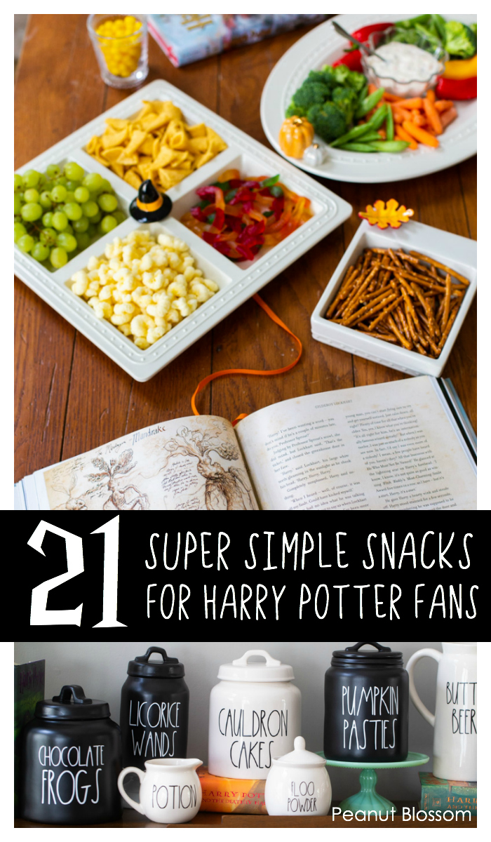 21 super easy Harry Potter snacks for movie night.