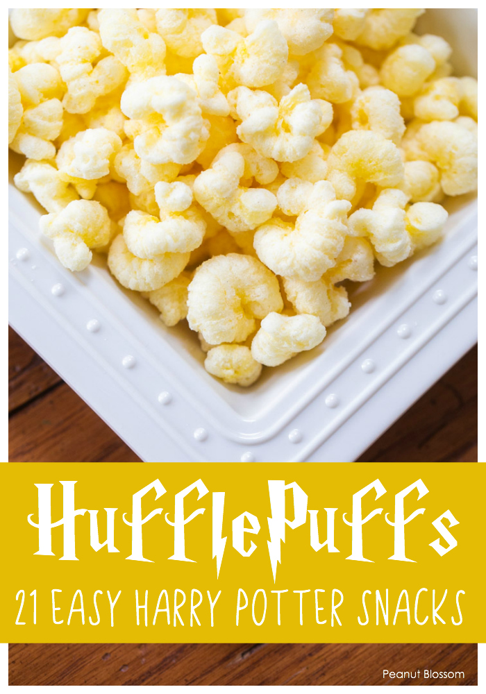 Hufflepuffs: A ridiculously easy Harry Potter snacks idea for movie night.