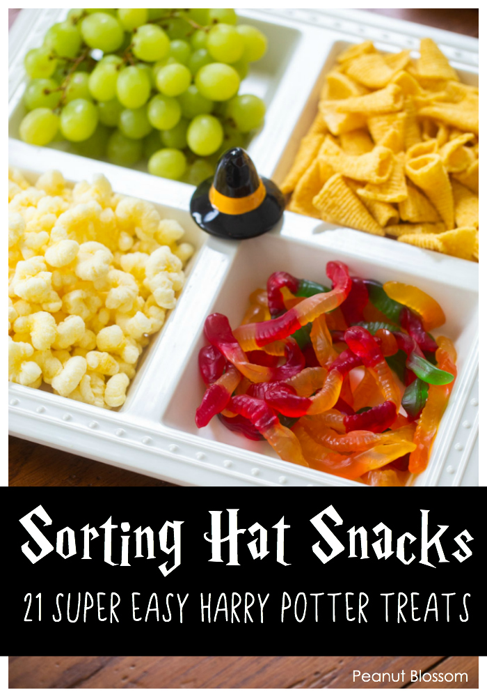 Sorting Hat Snack Tray: 1 of 21 super easy Harry Potter snacks for an awesome Harry Potter movie night.