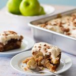 Make-ahead apple cake with browned butter frosting