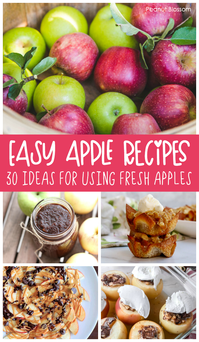30 easy apple recipes for using up everyone's favorite fall produce!