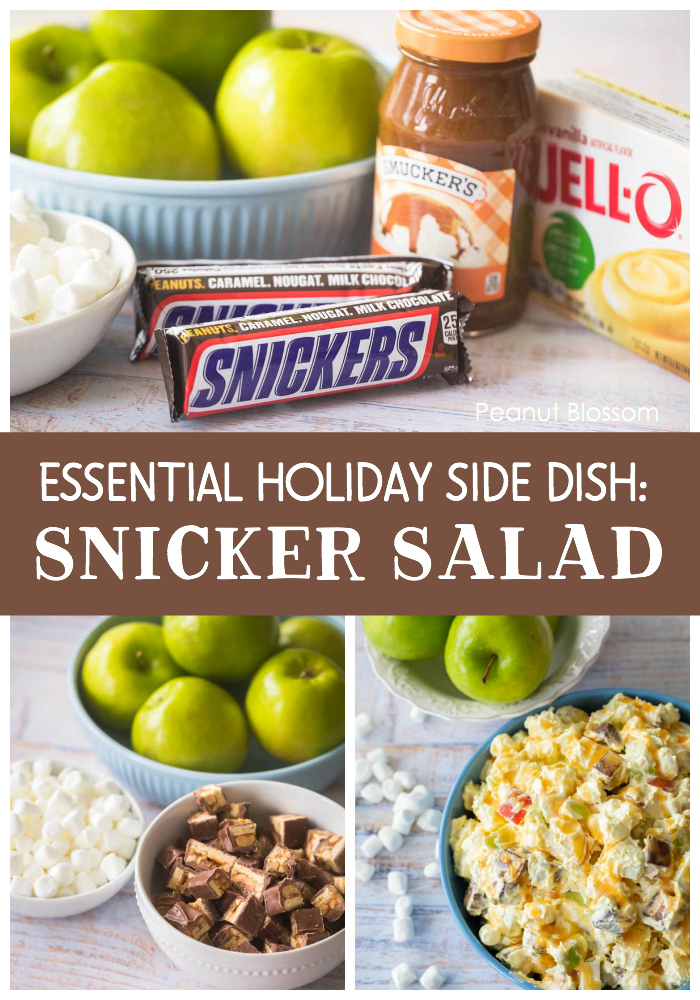 Snicker Salad is an essential holiday side dish for Thanksgiving or Christmas. Loved by families all across the Midwest.