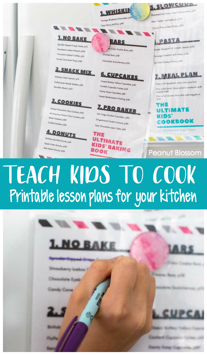 Teach your kids to cook with printable lesson plans and a copy of The Ultimate Kids' Baking Book by Tiffany Dahle