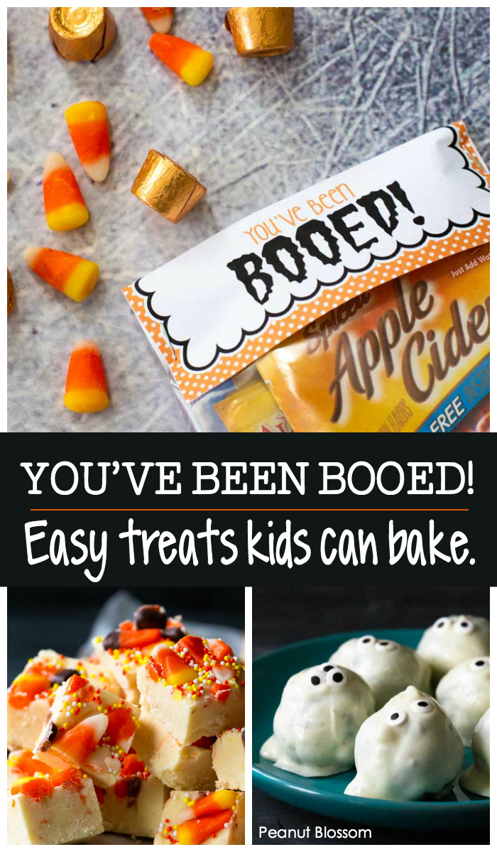 You've Been Booed!: Easy treats for kids to bake for their friends this Halloween.