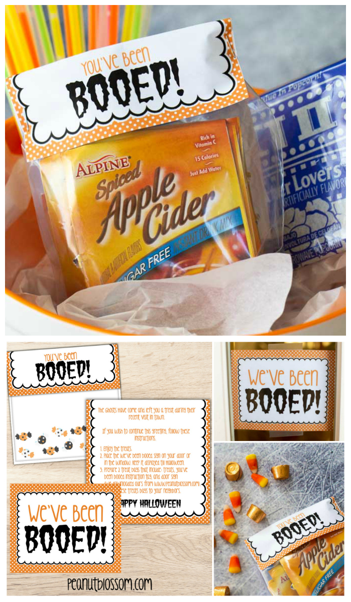 Free Printable You've Been Booed signs for surprising friends and neighbors with Halloween treats.