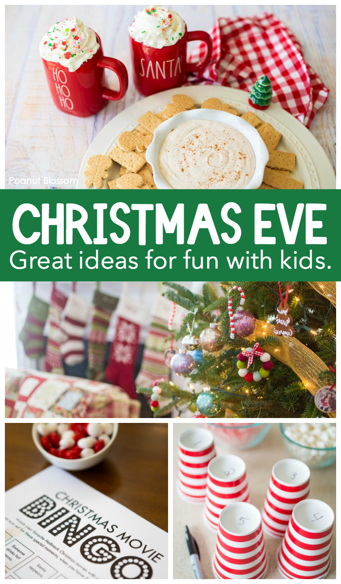 Christmas eve ideas for making sweet memories with the kids all night long.