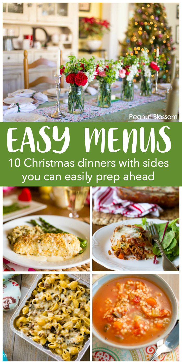 10 easy ideas for a Christmas dinner menu you can make ahead.