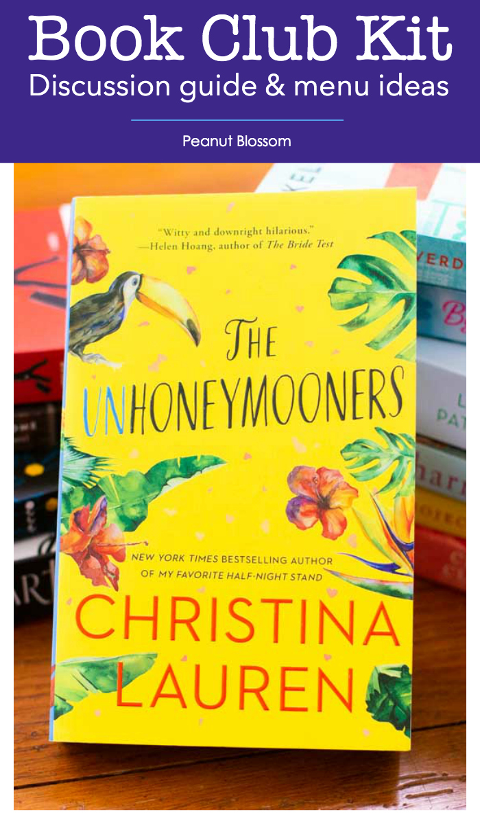 The bright yellow cover of the book The Unhoneymooners by Christina Lauren.