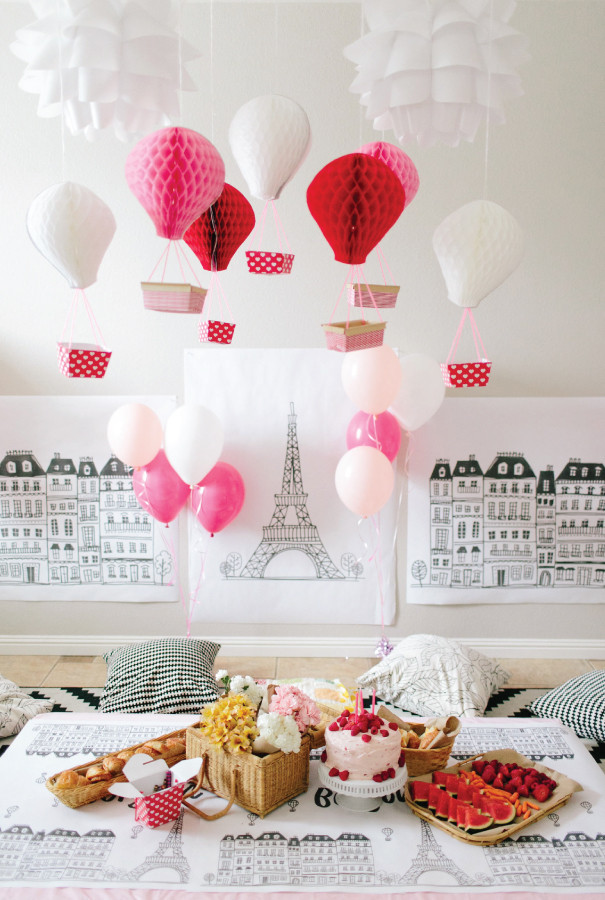 Hosting a Kids' Cookie Decorating Party *Love this Paris themed paper tablecloth from Caravan Shoppe