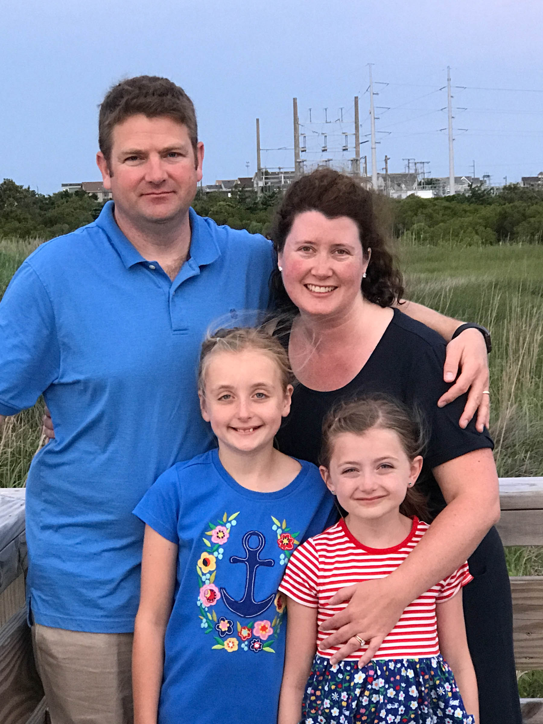 Tiffany Dahle and her family visiting the Outer Banks, NC.