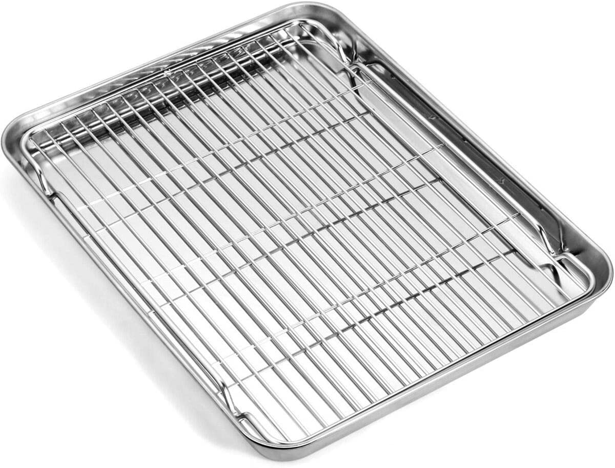 Baking sheet with wire rack
