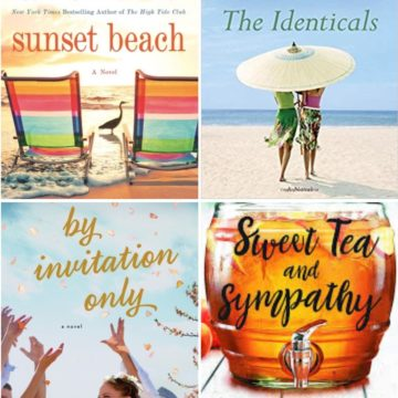 A collage of fun beach reads for summer.