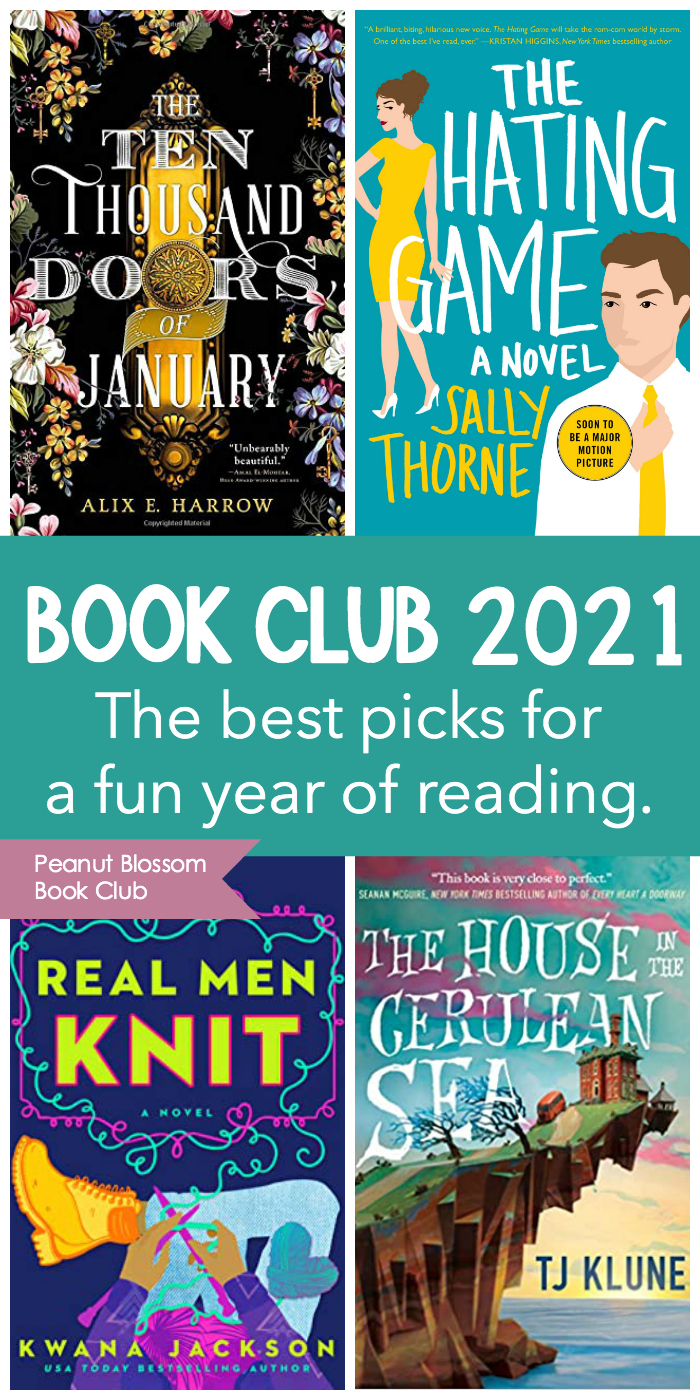 The January - April book covers for the book club.