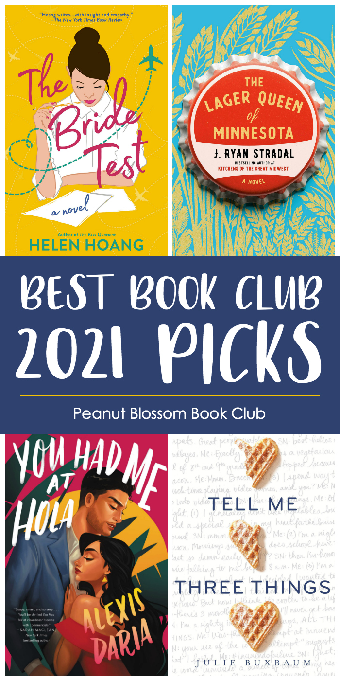 The book covers for the book club picks May - August.