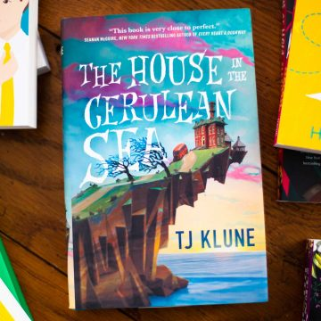 A copy of The House in the Cerulean Sea by TJ Klune