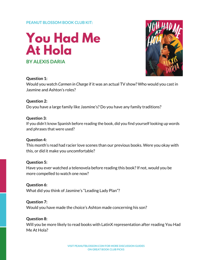 You Had Me At Hola Book Club Questions