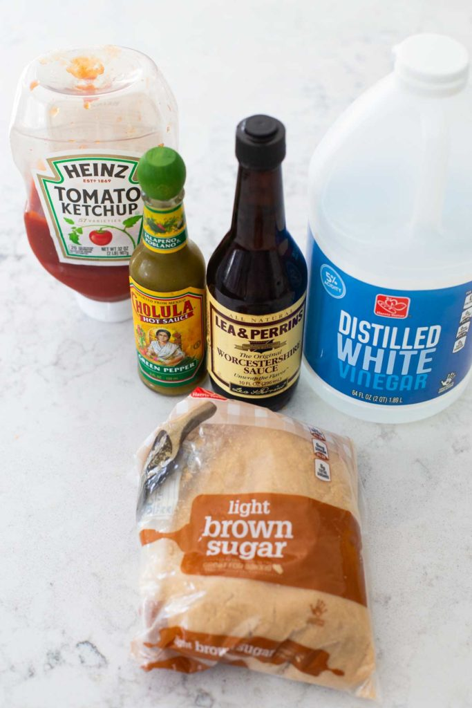 Ingredients for the Sweet and Sour drizzle sauce.