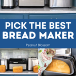 A photo collage of bread makers